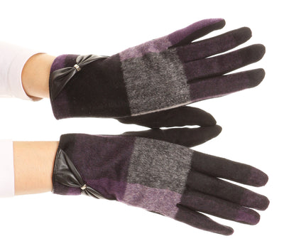 group-17102-purple (Sakkas Liya Classic Warm Driving Touch Screen Capable Stretch Gloves Fleece Lined)