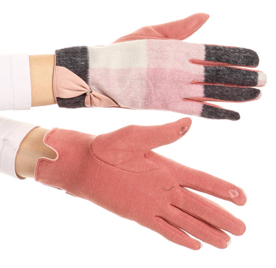 group-17102-rose (Sakkas Liya Classic Warm Driving Touch Screen Capable Stretch Gloves Fleece Lined)