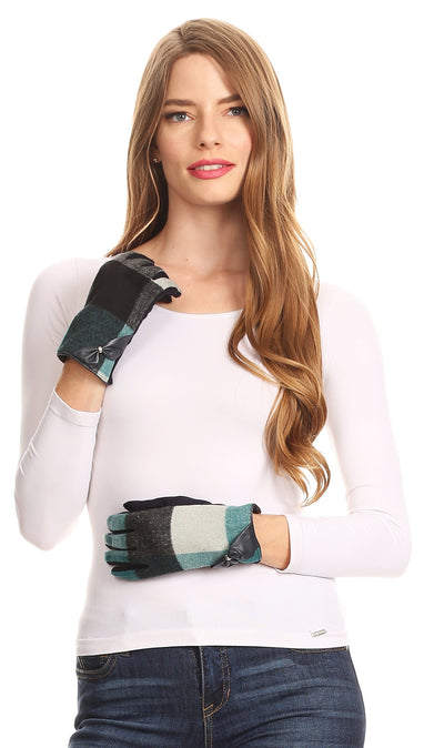 group-17102-teal (Sakkas Liya Classic Warm Driving Touch Screen Capable Stretch Gloves Fleece Lined)