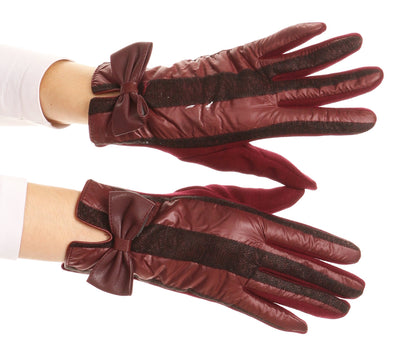 group-17103-burgundy (Sakkas Liya Classic Warm Driving Touch Screen Capable Stretch Gloves Fleece Lined)