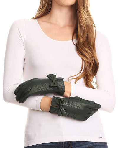 group-17103-hunter/green (Sakkas Liya Classic Warm Driving Touch Screen Capable Stretch Gloves Fleece Lined)