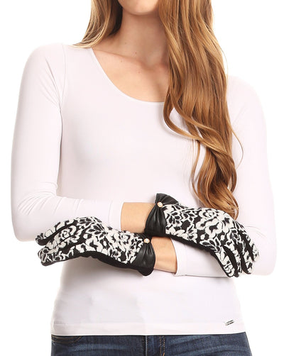 group-1799-black (Sakkas Liya Classic Warm Driving Touch Screen Capable Stretch Gloves Fleece Lined)