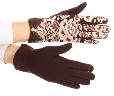 group-1799-brown (Sakkas Liya Classic Warm Driving Touch Screen Capable Stretch Gloves Fleece Lined)