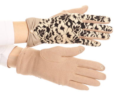 group-1799-tan (Sakkas Liya Classic Warm Driving Touch Screen Capable Stretch Gloves Fleece Lined)