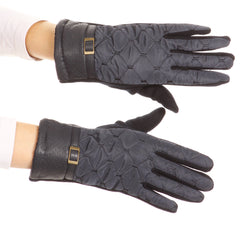 Sakkas Emie Quilted and Lace Super Soft Warm Driving Gloves Touch Screen Capable