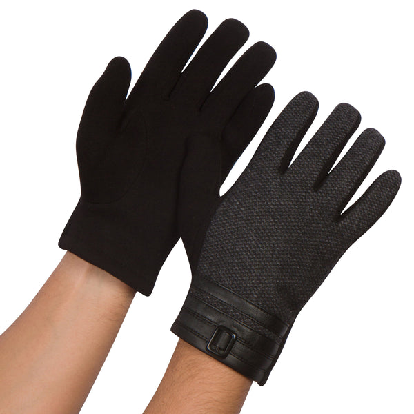 Sakkas Enes Warm Fleece Lined Driving Gloves Vegan  Minimal Commute Casual#color_17108-charcoal