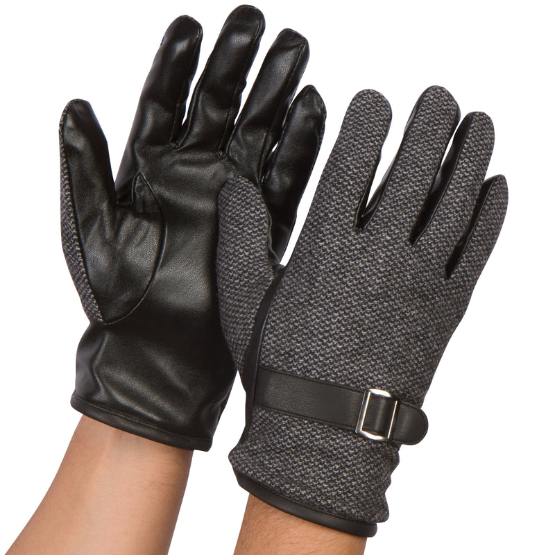 Sakkas Enes Warm Fleece Lined Driving Gloves Vegan  Minimal Commute Casual