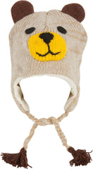 Sakkas Unisex Adorable Animal Face Fully Lined Knit Winter Earflap Hat