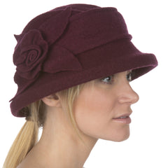 Sakkas Harlow Rose Wool Hat