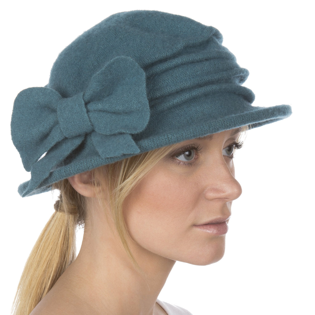 Sakkas Loren Bow Wool Hat