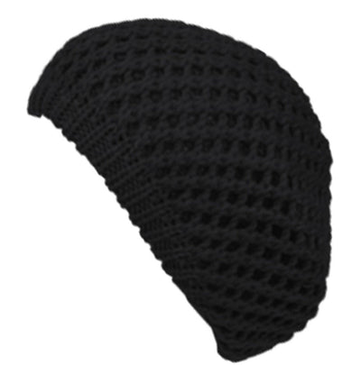 Sakkas Thick Knit Open Weave Slouch Fashion Beret