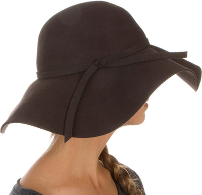 group-Brown (Sakkas Womens 100% Wool Wide Brim Foldable Floppy Hat)