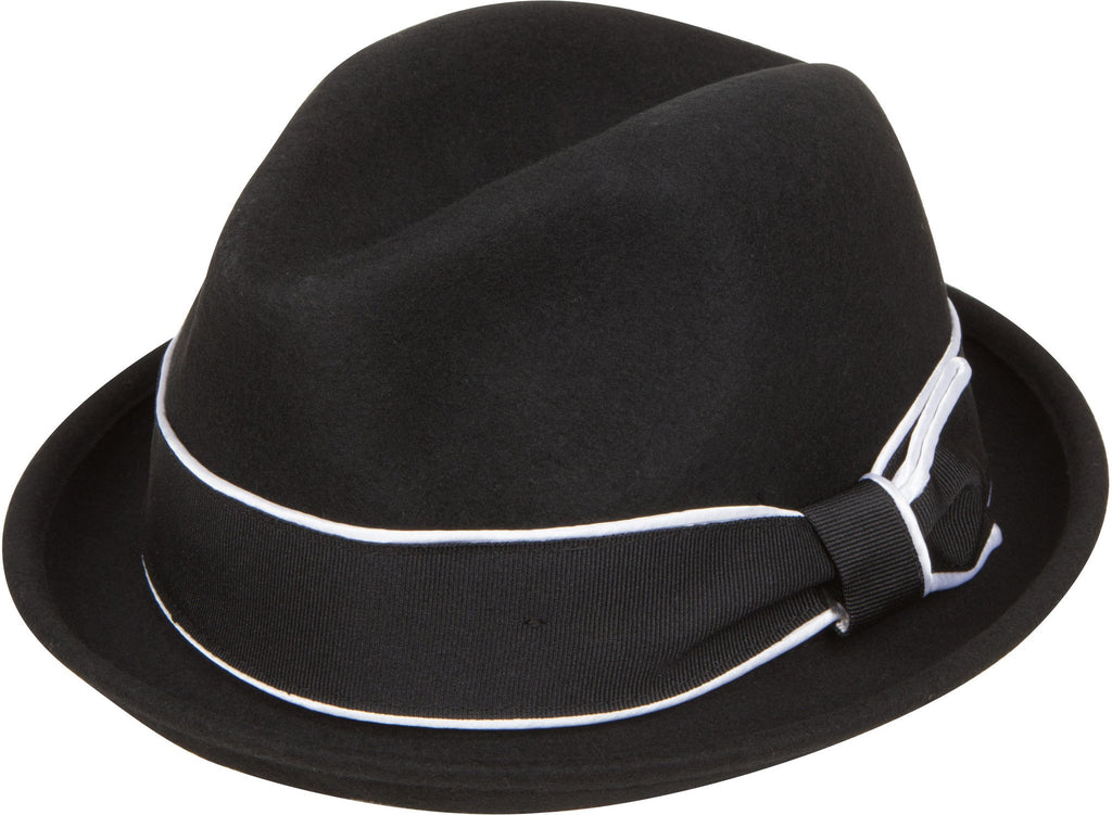Sakkas Kelley Grosgrain Ribbon Wool Homburg Fedora