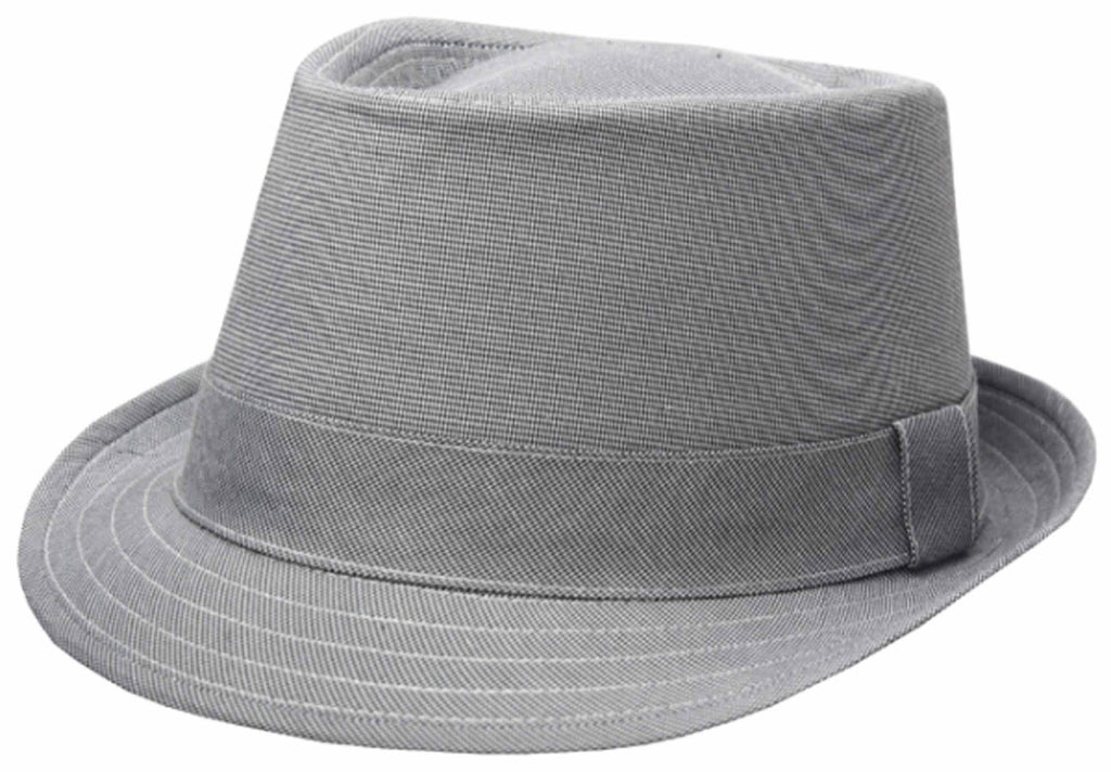 Sakkas Structured Pinpoint Cotton Fedora