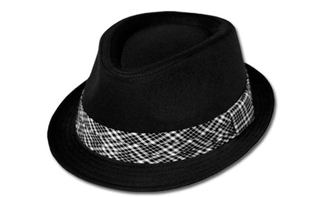 Sakkas Structured Unisex Plaid Band Cotton Fedora Hat