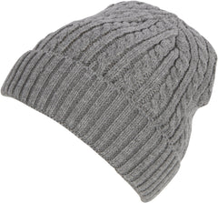 Sakkas Cable Knitted Solid Color Fashion Winter Beanie / Cap / Hat