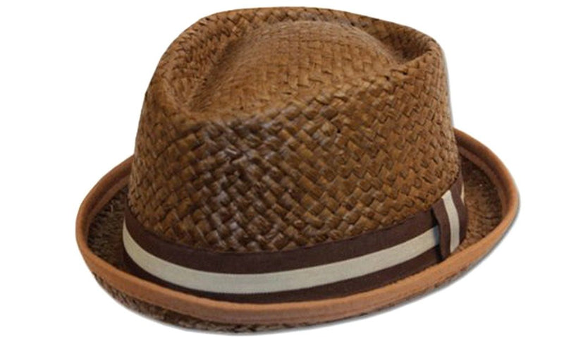 Sakkas Striped Band Woven Straw Hat