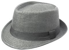 Unisex Structured 100% Paper Straw Ribbon Band Fedora Hat