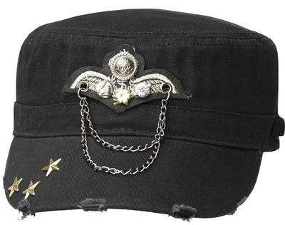 Sakkas Distressed Military Cadet Cap