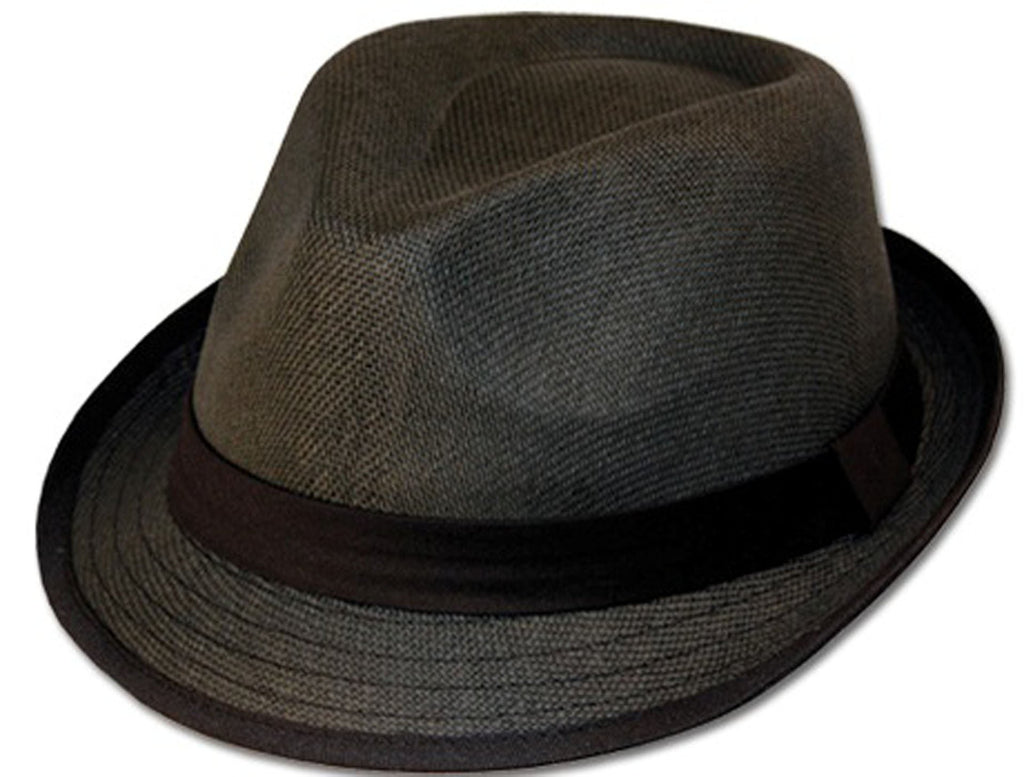 Unisex Structured 100% Paper Straw Black Band Fedora Hat