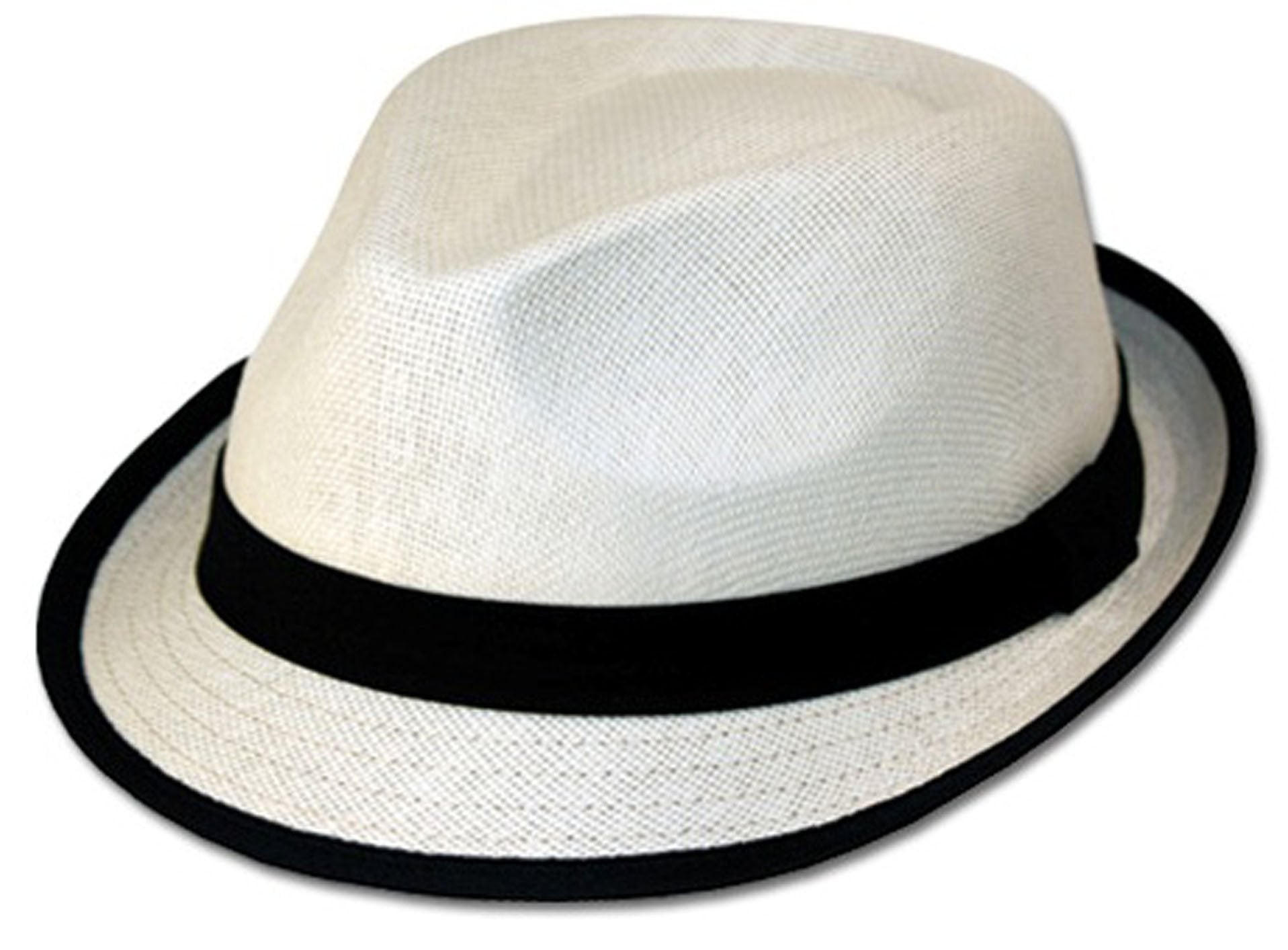 46254a5d56a8f Unisex Structured 100% Paper Straw Black Band Fedora Hat - Sakkas Store