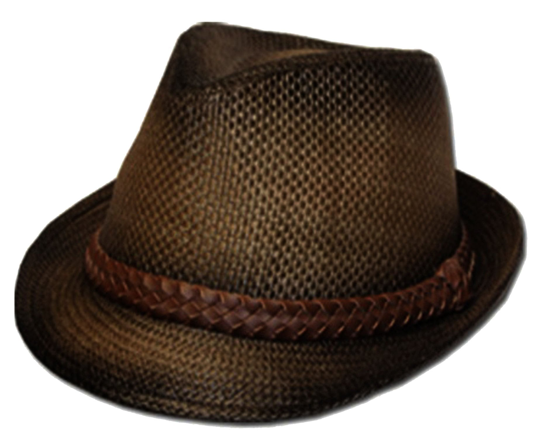 238d92a875459 Unisex Structured Ombre 100% Paper Braided Band Fedora Hat - Sakkas ...