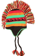 Sakkas Unisex Multi-Colored Striped Fully Lined Knitted Mohawk Winter Hat