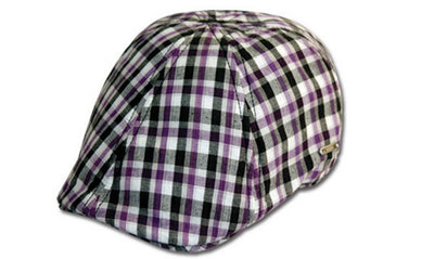 Sakkas Men's Balmoral Plaid Newsboy Ivy Flat Cap
