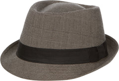 Sakkas Subtle Patterned Plaid Fedora