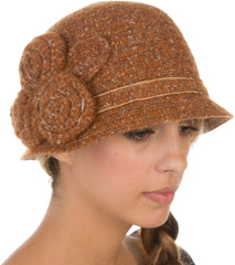 Sakkas Womens Vintage Style Cloche Bucket Bell Hat with Flower Accent