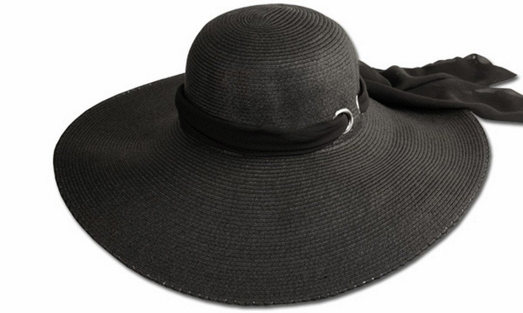 Sakkas Scarf Band Floppy Hat With Extra Wide Brim