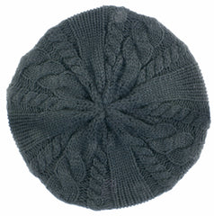Sakkas Cable Knitted Light Slouch Fashion Beret