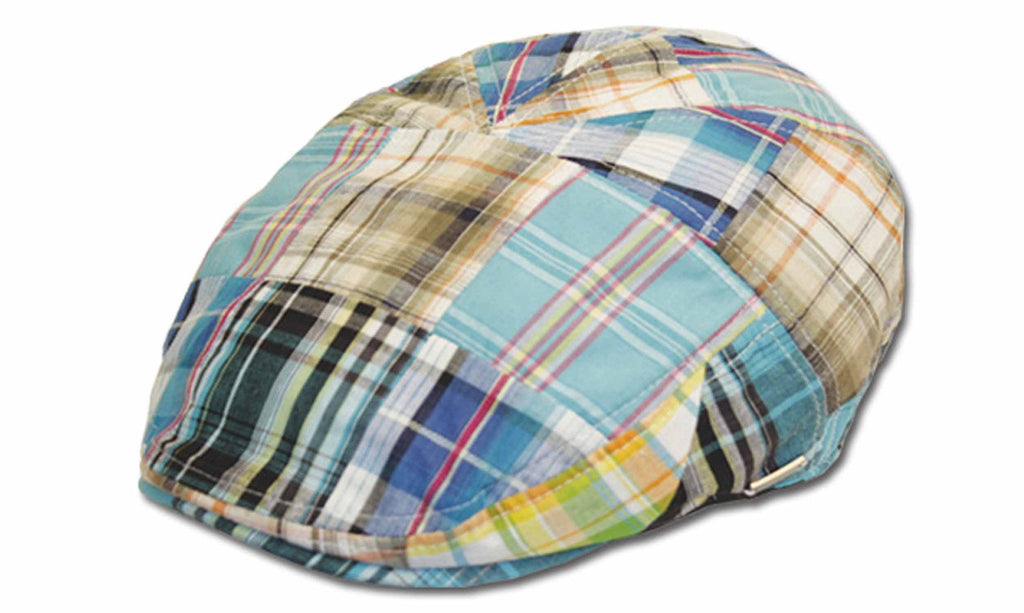 Sakkas Men's Plaid Patchwork Newsboy Ivy Flat Cap