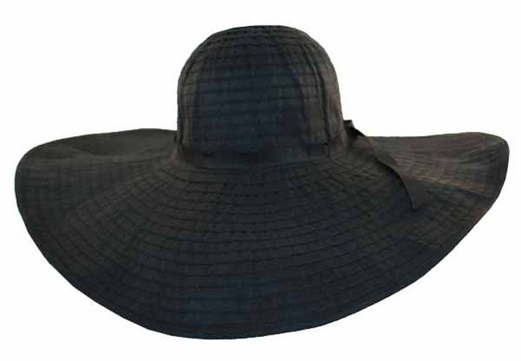Sakkas Women's Ribbon Paper Straw Floppy Hat With Extra Wide Brim