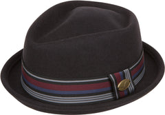 Sakkas Arthur Striped Band Homburg Wool Fedora