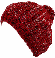 Sakkas Thick Knit Color Fleck Slouch Fashion Beret