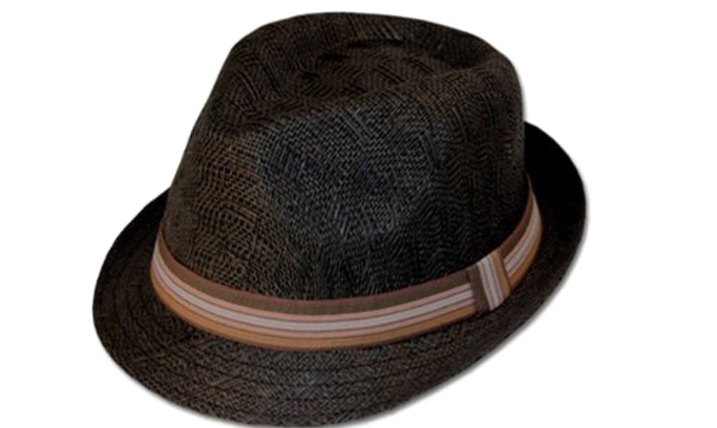 Sakkas Natural Woven Striped Band Fedora