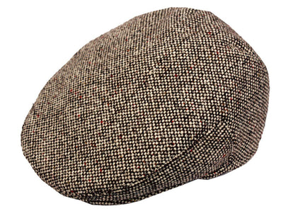 Sakkas Tweed Wool Blend Ivy Golf Driver Flat Irish Cap