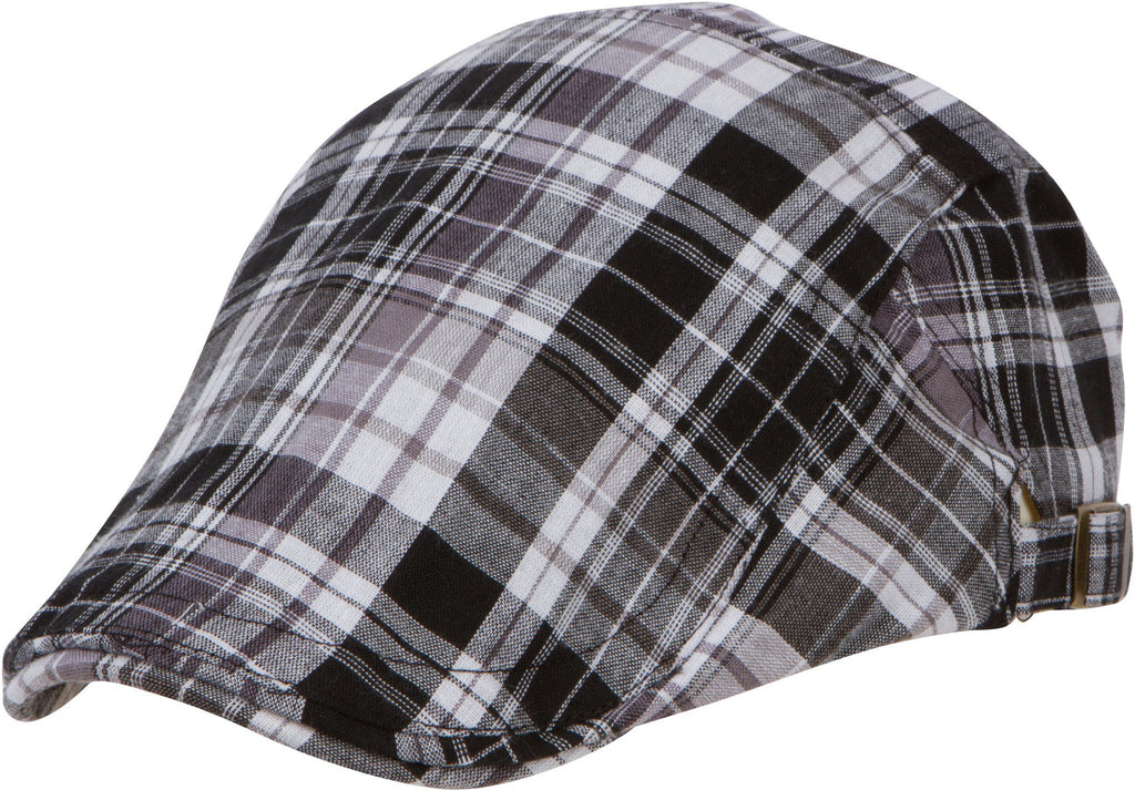 Sakkas Windsor Plaid Newsboy Ivy Flat Cap