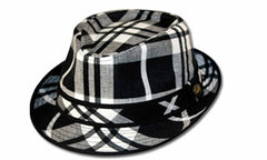 Sakkas Multicolor Plaid Cotton Fedora