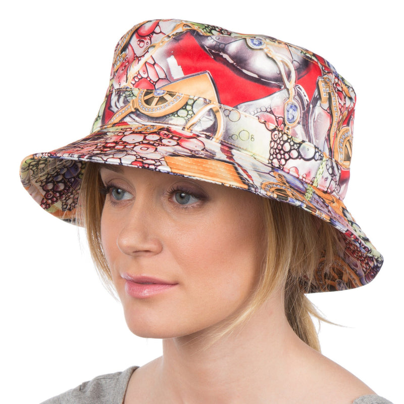 Sakkas Gemma Colorful Design Cloche Bucket Bell Summer Hat