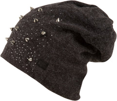 Sakkas Maggie Over-Sized Studded Slouch Beanie