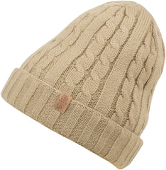 Sakkas Avery Thermal Fleece Lined Cable Knit Beanie