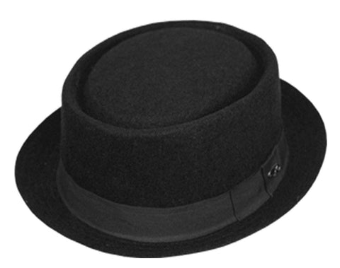 Sakkas Contemporary Unisex Wool Pork Pie Fedora Hat