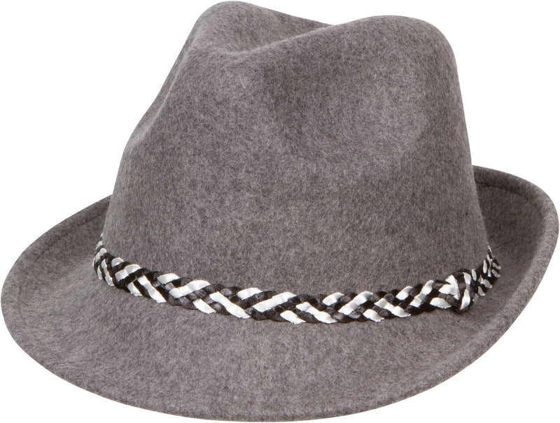 Sakkas Clint Braided Band Wool Trilby Fedora