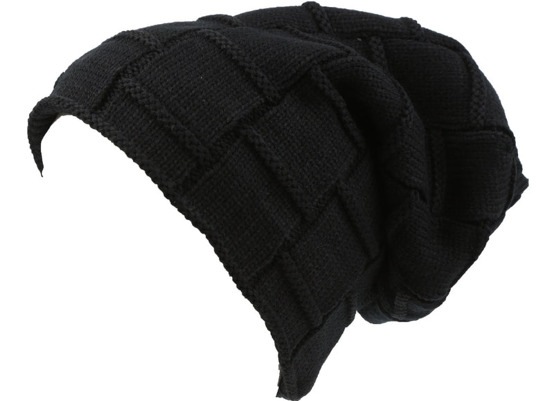 Sakkas Volc Long Tall Pleated Faux Fur Shearling Lined Unisex Winter Hat Beanie