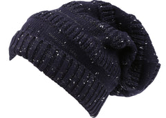 Sakkas Kase Long Tall Slouchy Striped Knit Fishermans Unisex Solid Beanie Hat