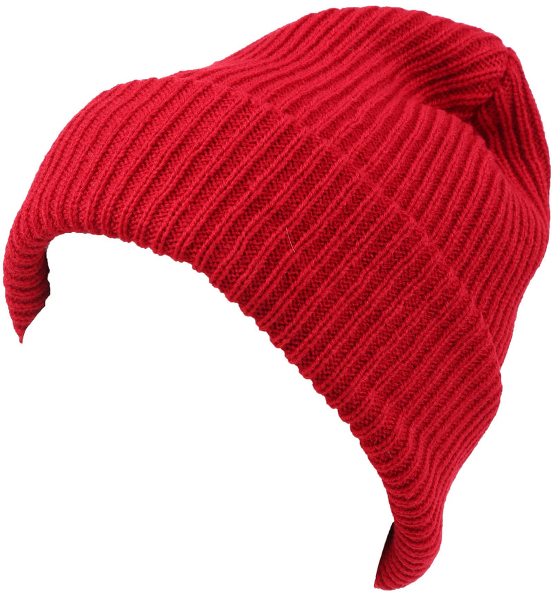 Sakkas Mig Solid Ribbed Knit Fold Over Unisex Long Tall Fit Fishermans Beanie Hat