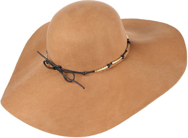 Sakkas Liuliu Wide Vintage Style Floppy Hat Removable Interchangeable Bow Ribbon#color_Beige