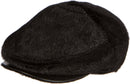 Sakkas Faux Mink Fur Back Flap Ivy Driving Newsboy Cap Hat Adjustable Snap Front